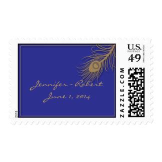 Peacock Plume Postage Stamp