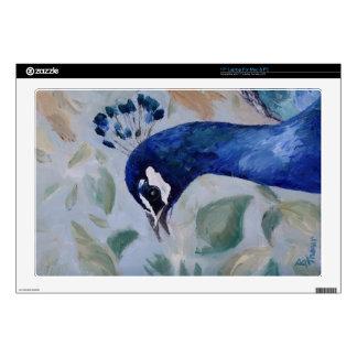 Peacock Portrait Laptop Skin