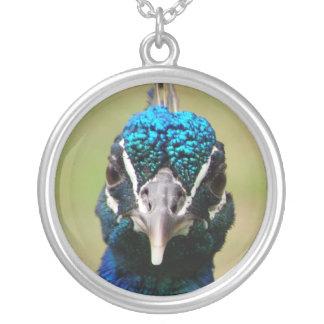 Peacock Portrait Pendants