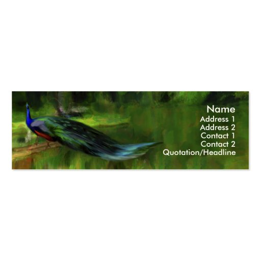 Peacock profile / business card