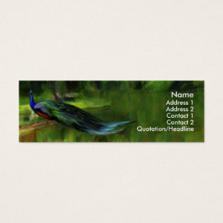 Peacock profile / business card