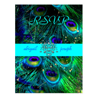 Peacock, psychedelic RSVP postcards