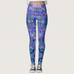 "Peacock Purple, Blue and Green Marbled Look Leggings<br><div class=""desc"">These leggings are full of deep royal colors.  The psychedelic pattern looks as if the colors are moving inside a kaleidoscope.  The colors are inspired by the colors of a peacocks beautiful tail feather display.  The pattern is like marbled paint or the inside of a geode.</div>"