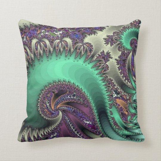 Peacock Purple Design Throw Pillow Zazzle.com