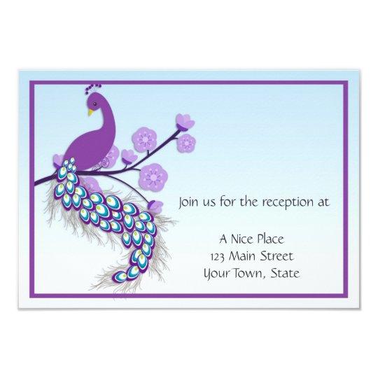 Peacock Purple Reception Card
