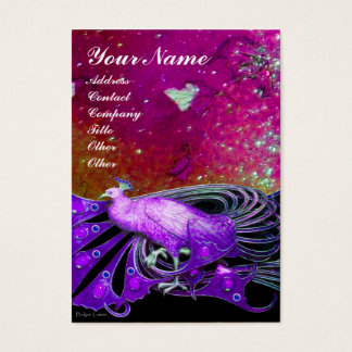 PEACOCK purple sparkle Business Card
