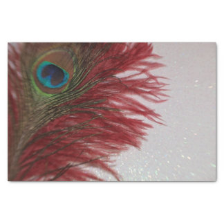 Peacock Red and White Tissue Paper
