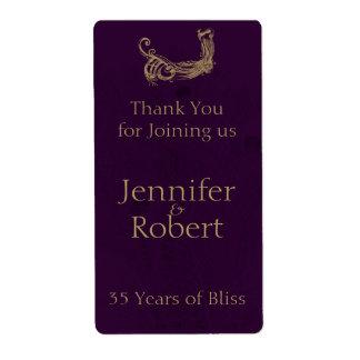 Peacock Regency in Purple Anniversary Wine Label