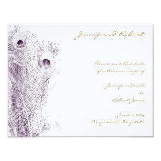 Peacock Regency in Purple Save the Date Card