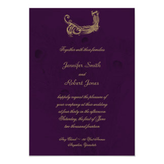 Peacock Regency in Purple Wedding InvitationRegency Invitations   Announcements   Zazzle. Regency Wedding Invitations. Home Design Ideas
