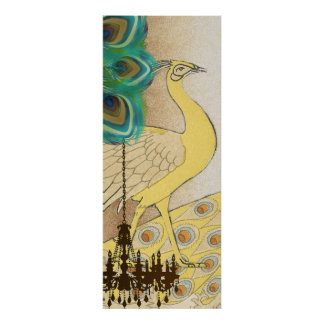 Peacock Roaring 20 s Wedding Poster
