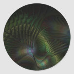 Peacock Round Stickers