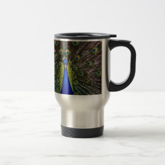 Peacock Royal Blue Gifts Presents Beautiful 15 Oz Stainless Steel Travel Mug
