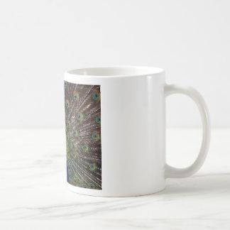 Peacock Royal Blue Gifts Presents Beautiful Classic White Coffee Mug