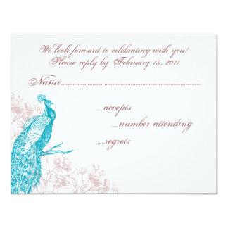 Peacock RSVP Card