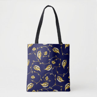 Peacock Sari Pattern Tote Bag