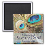 Peacock Save the Date Magnet