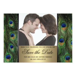 Peacock Save the Date Photo Card