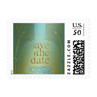 Peacock Save the Date Set 1104a Postage
