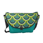 Peacock Scales Deco Graphic Messenger Bag