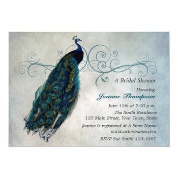 3ce37a8f2444 Browse Products At Zazzle With The Theme Peacock Bridal Shower ...