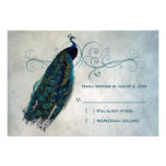 Peacock Scroll RSVP Personalized Invites