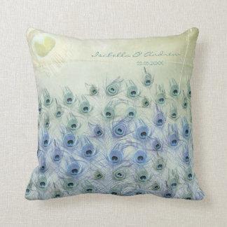 Peacock Sea Fantasy Wedding Anniversary Pillow