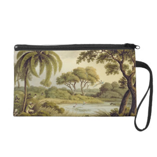 "Peacock Shooting, from ""Oriental Field Sports"", pu Wristlet Purse"