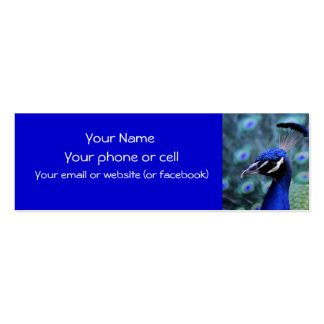 Peacock.. showoff! skinny card business cards