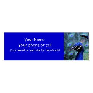 Peacock.. showoff! skinny card mini business card
