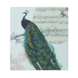 Peacock Song - Vintage inspired Memo Notepads