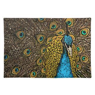 Peacock Splendor Illustration Place Mat