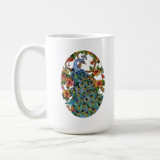 Peacock Spread 3 Large Coffee Mug