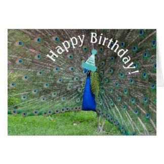 Peacock Strut•Happy Birthday! Greeting Card