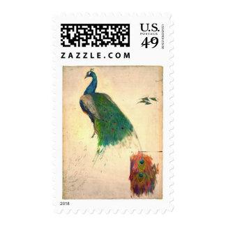 Peacock Study 1896 Postage