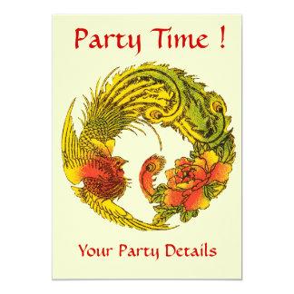 Peacock Style Invitation