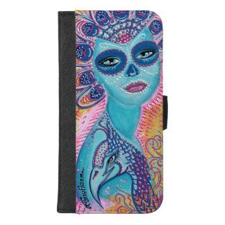 Peacock Sugar Skull iPhone Wallet