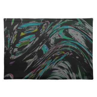 Peacock Swirl Cloth Placemat