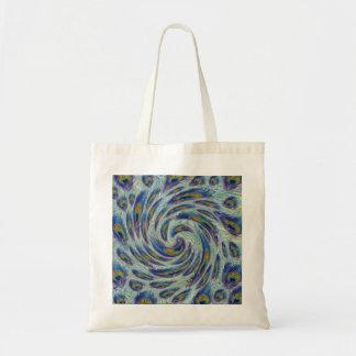 Peacock Swirl Pattern Tote Bag