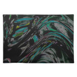 Peacock Swirl Place Mats