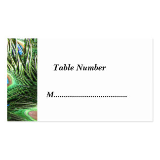 Peacock Table Numbers Classic Business Cards