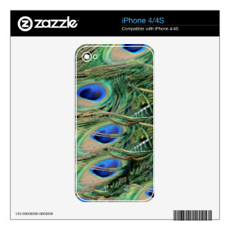 Peacock Tail Feather Blue Eyes With Growth iPhone 4 Skin