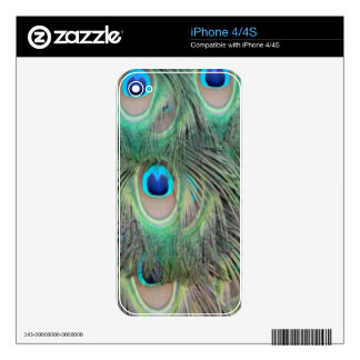 Peacock Tail Feather Large Eyes Skin For The iPhone 4