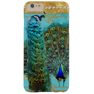 Peacock Tail Feathers Gold Glitter Baroque Jewel Barely There iPhone 6 Plus Case
