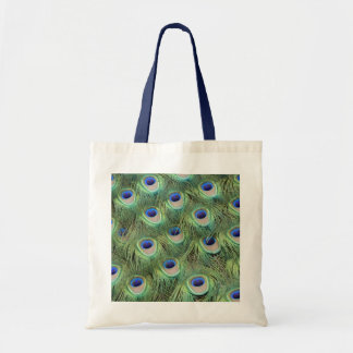 Peacock Tail Feathers Tote Bag
