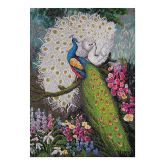 Peacock Tapestry 010110 009 Poster