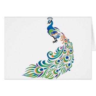 Peacock Tarjeta De Felicitación