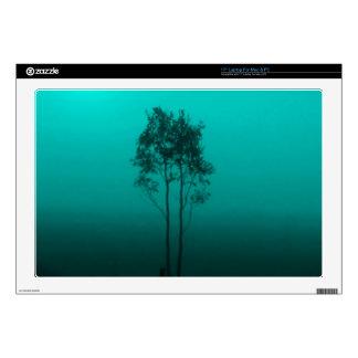 "Peacock Teal Trees Zazzle Skin 17"" Laptop Skins"