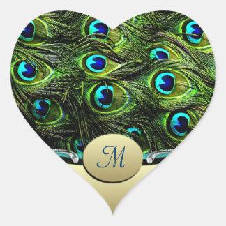 Peacock  Theme Wedding Envelope Seals