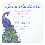 Peacock Theme Wedding Invitation Save the Date